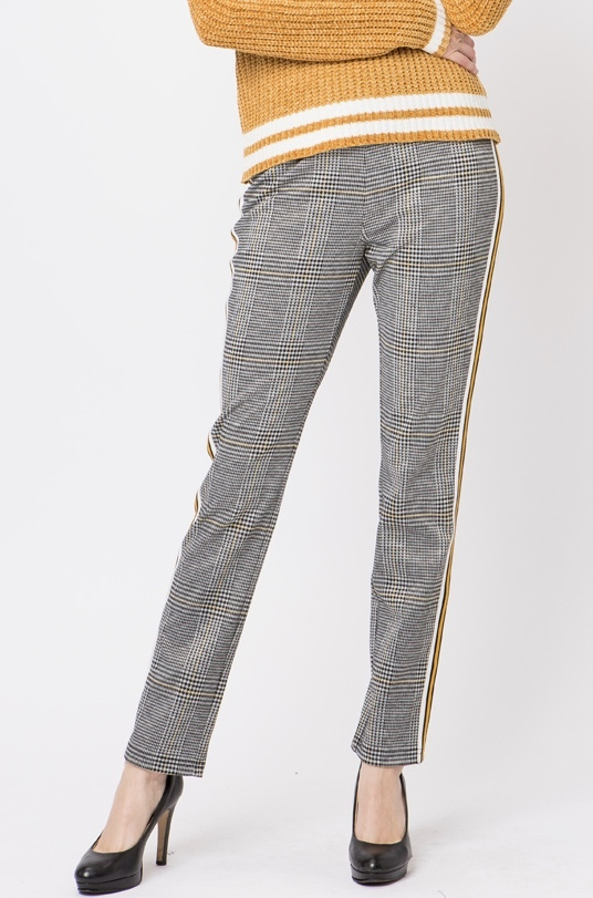 Claire Pants Mustard Front View