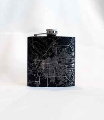 Montgomery Map Hip Flask