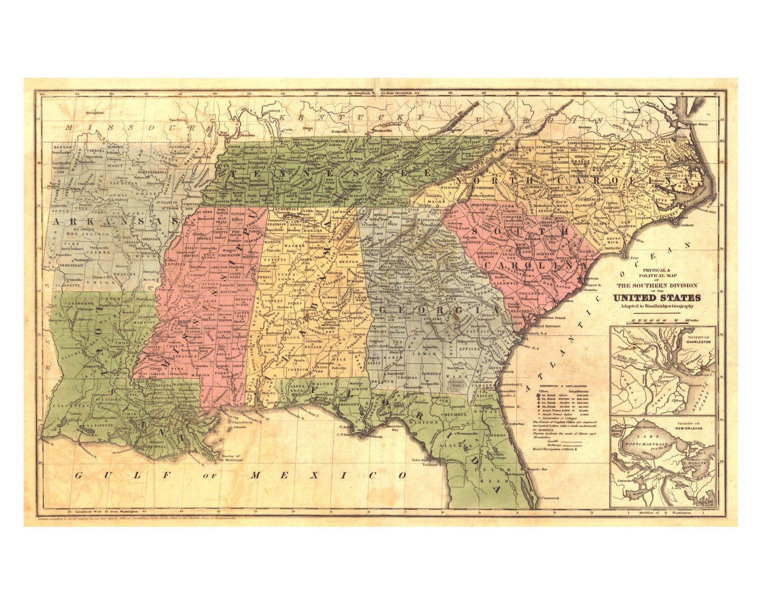 1845 Southern United States