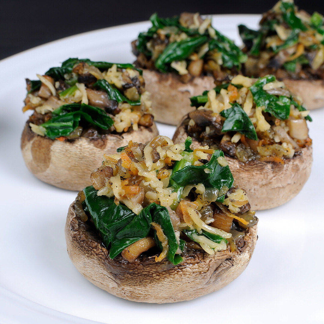 Spinach Parmesan Mushrooms