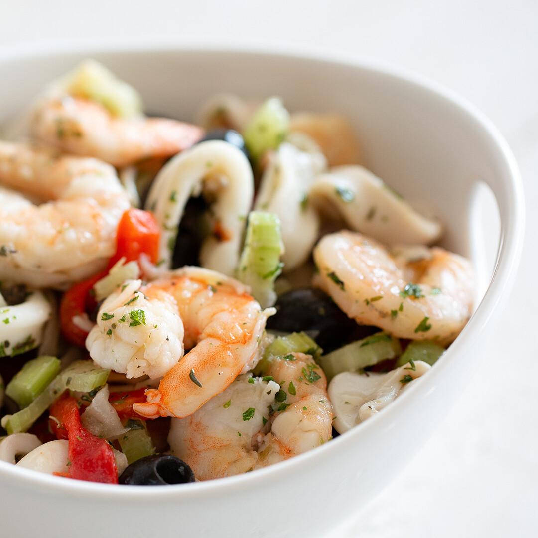 Italian Marinated Calamari & Shrimp Salad