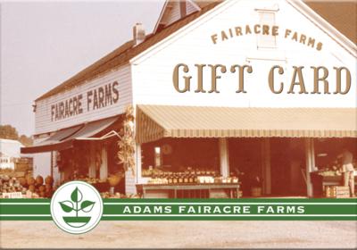 Adams Gift Card (Farm Stand)