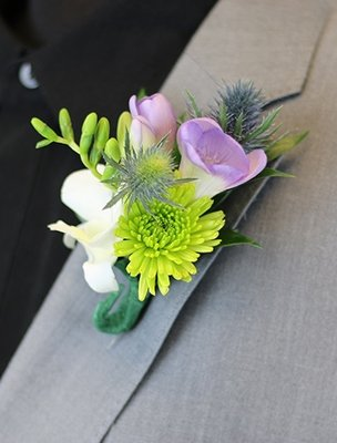 Orchid & Freesia Boutonniere