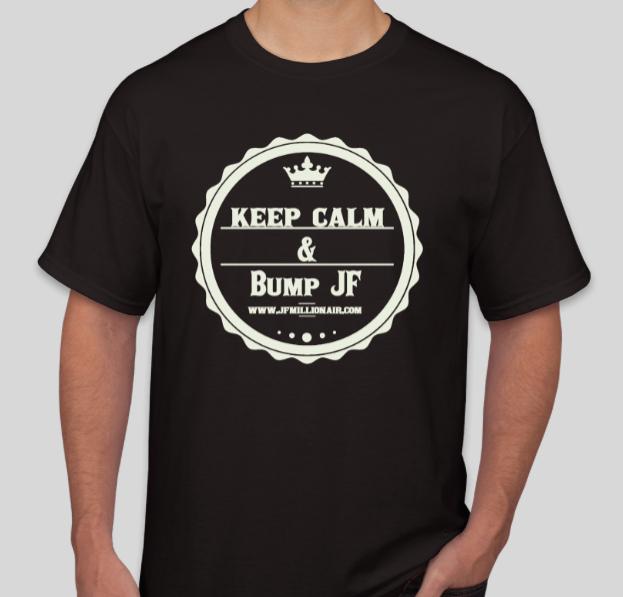 Bump Jf T-Shirt (Black T White Logo) Medium Short Sleeve