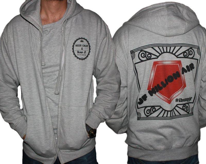 #ibumpjf Special Edition Zip-Up Hoodie Grey