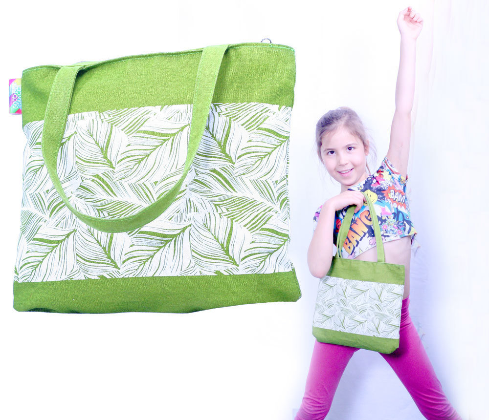 Luscious Leaves Goodbye Cancer Quality Cotton Childs Bag 00002