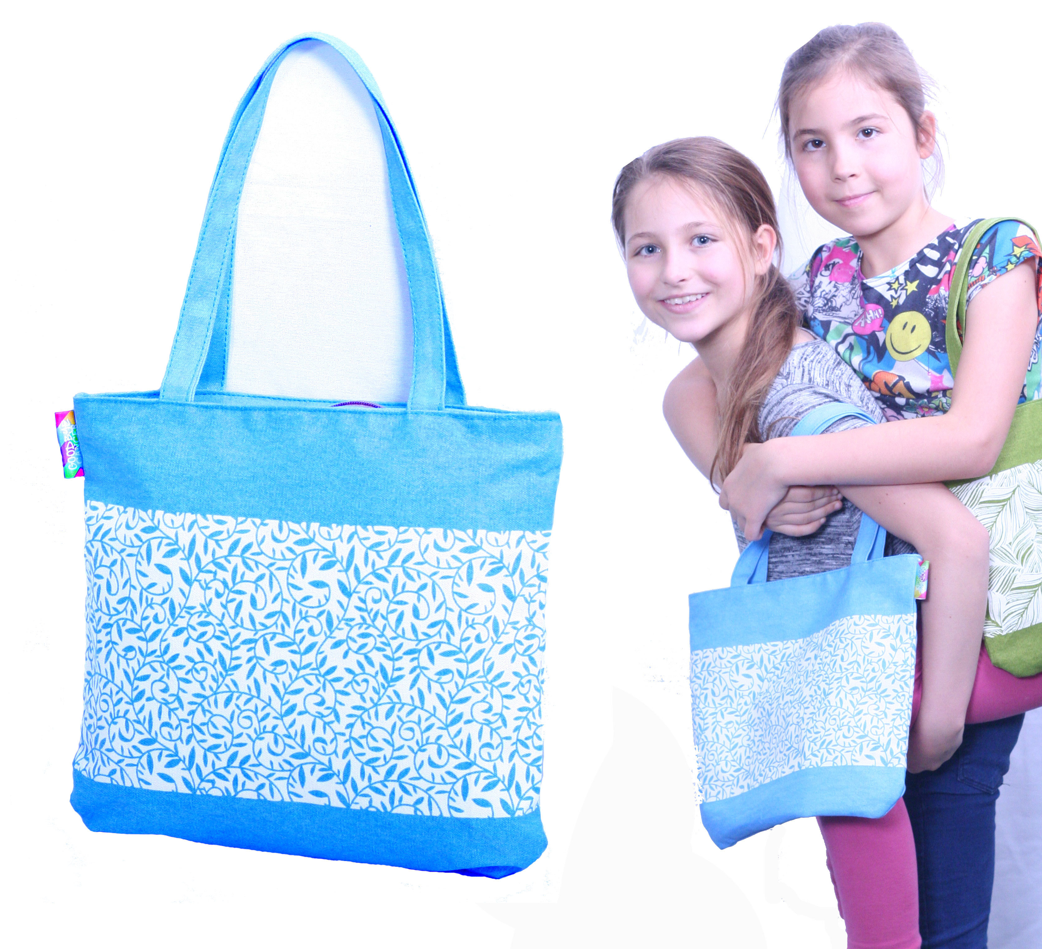 Brilliant Blue Goodbye Cancer Quality Cotton Childs Bag 00001