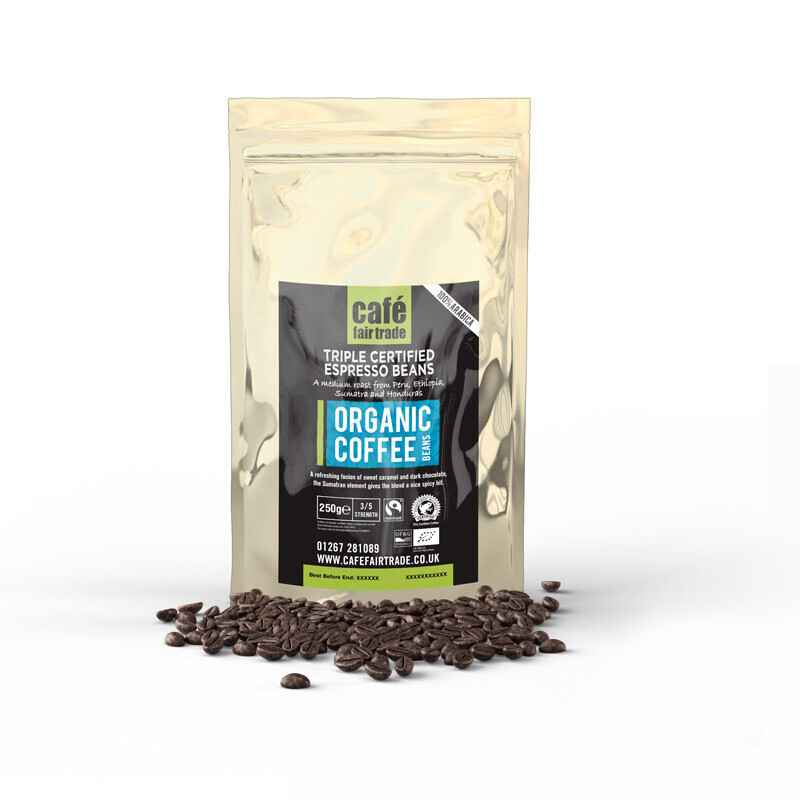 Tripple Certified Organic Espresso Beans (20 X 250g)