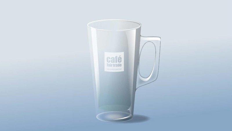 Latte Glass Tall Conig 12oz  (case size 12 x 1 ) £2.31 each