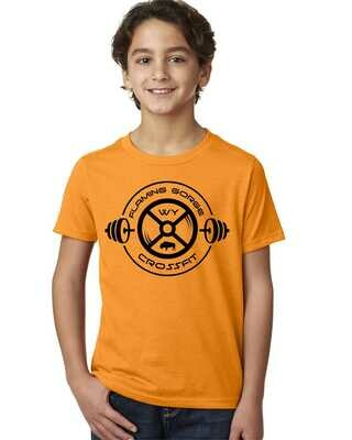 Flaming Gorge Crossfit Orange Youth Tee with Black Design