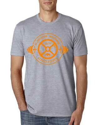 Flaming Gorge Crossfit Grey S/S Tee with Orange Logo