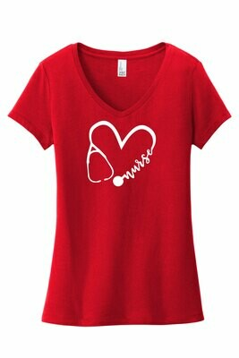 WWCC SNA - District Women's Very Important Tee V-Neck (DT6503 ClassicRed)
