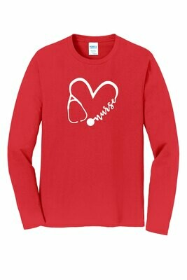 WWCC SNA - Port & Company Long Sleeve Fan Favorite Tee (PC450LS BrightRed)