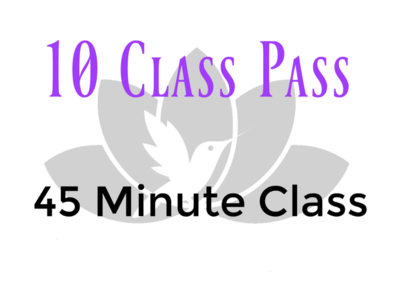 10 Class Pass- 45 Minute