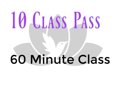 10 Class Pass-60 Minute