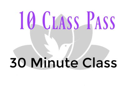 10 Class Pass- 30 Minute