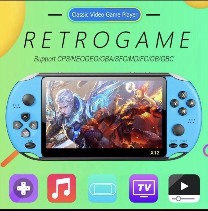 X12 5.1 Screen Portable Retro Gaming System 2500 Games Preloaded