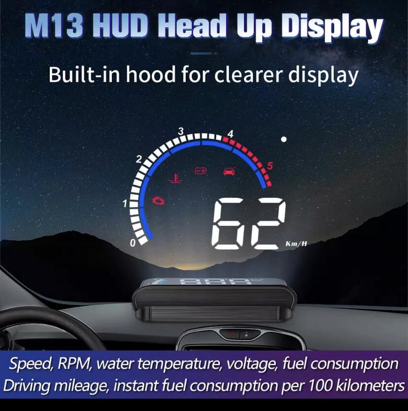 M13 HUD OBD2 heads Up Car Display