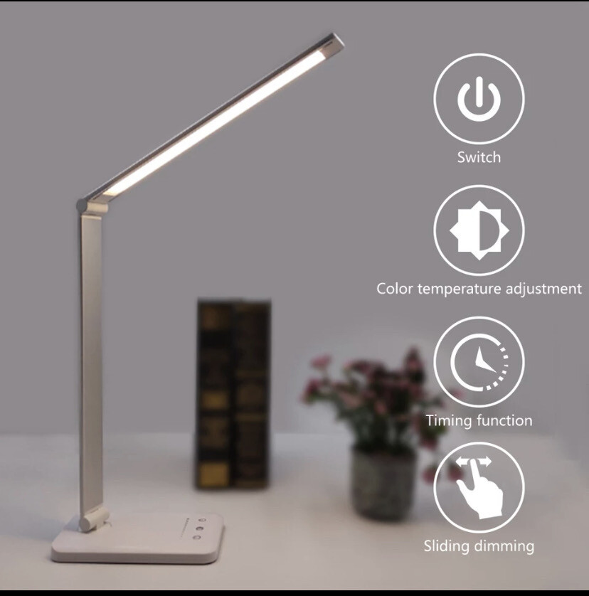 Aluminum LED Lamp With Wireless Charging
