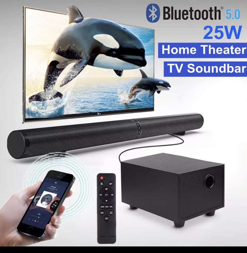 45w Home Theater System Sound Bar And Sub Woofer