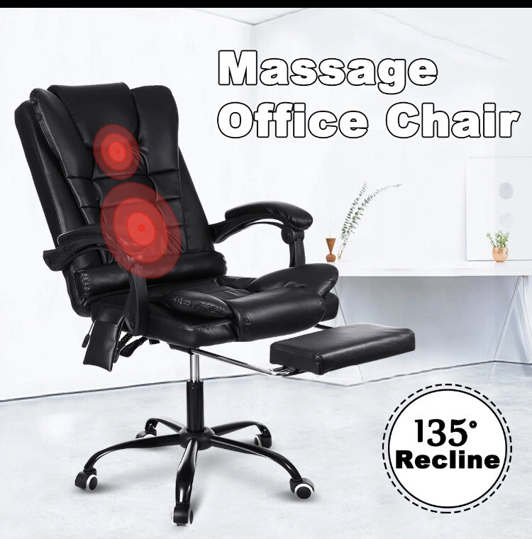 Massage Gaming Chair W/ Foot Rest