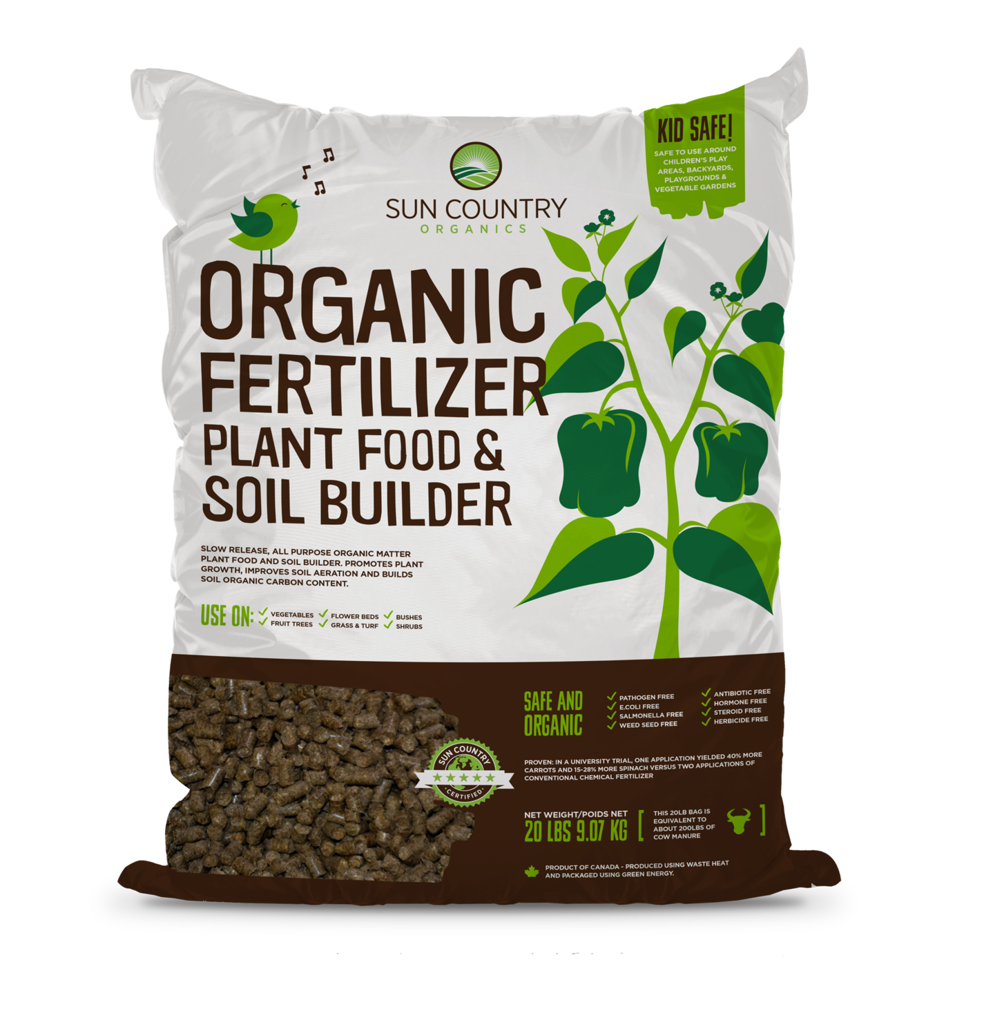Organic Plant Food & Soil Builder, 20 lb.