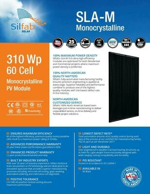 310 WP 60 Cell Monocrystalline PV Module