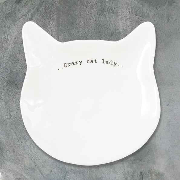 Cat Dish 'crazy Cat Lady'