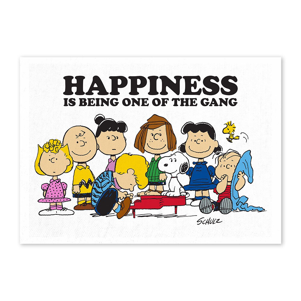 Snoopy Tea Towel 'happiness Is Being One Of The Gang'