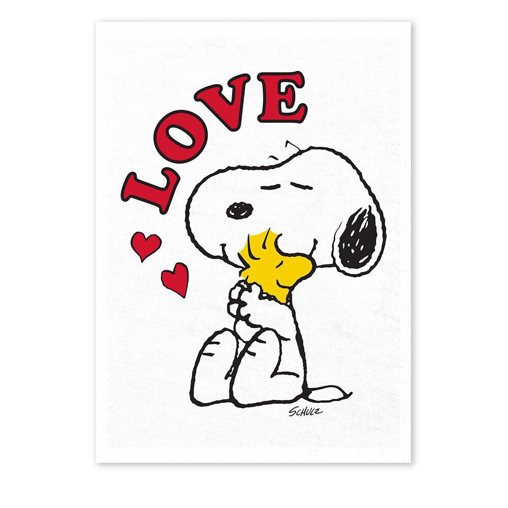 Snoopy Tea Towel 'love'