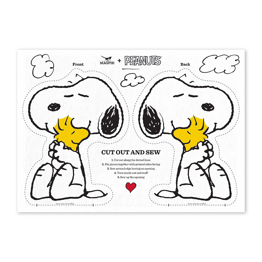 Cut & Sew 'Snoopy And Woodstock'