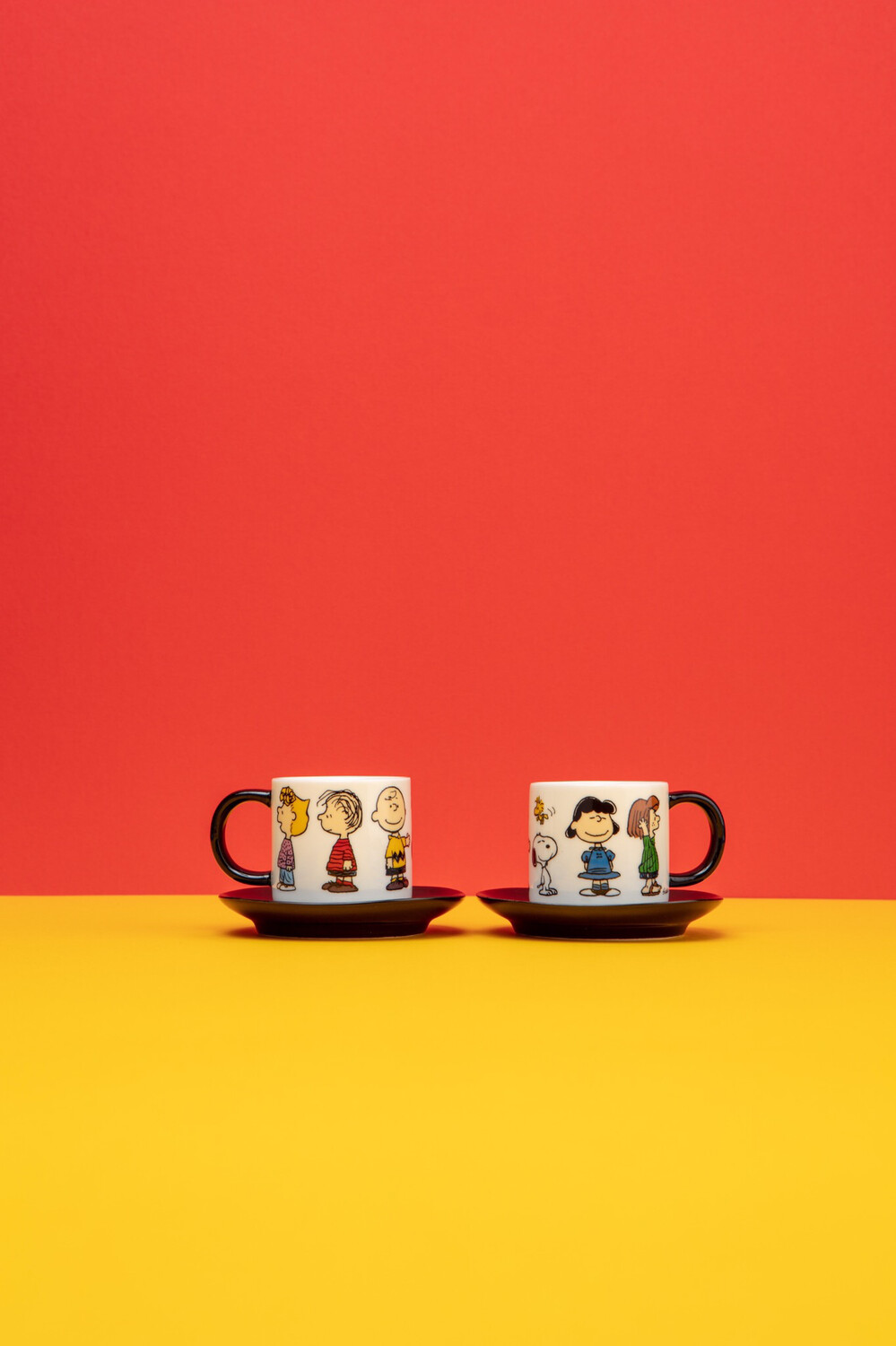 Snoopy Espresso Cup Set 'the Gang'