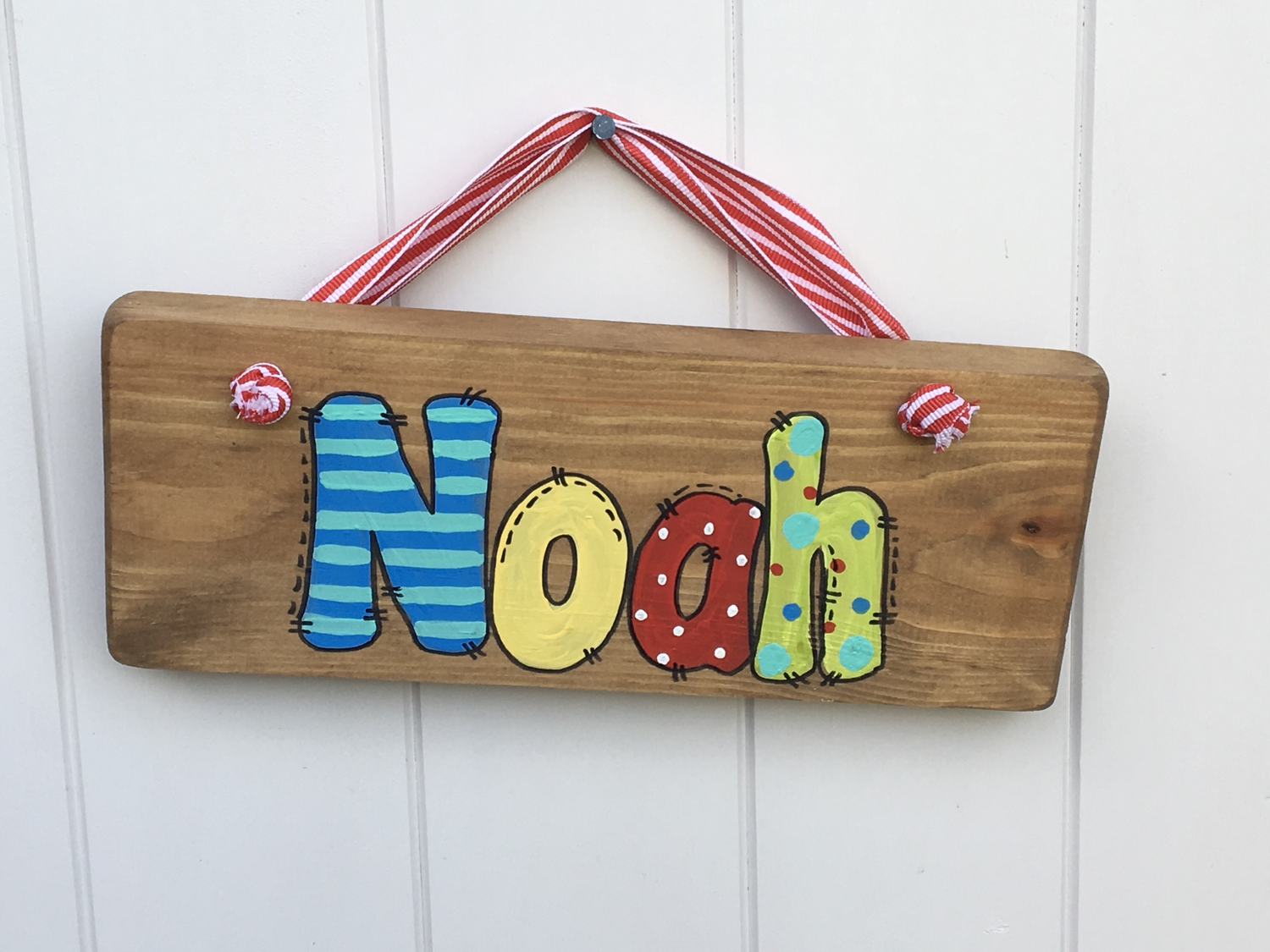 Boys Name Plaque (up to 5 letters)