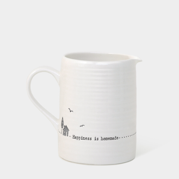 Small boxed jug - 'happiness is homemade'