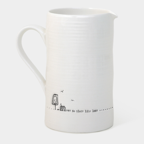 Large boxed jug - 'no place like home'
