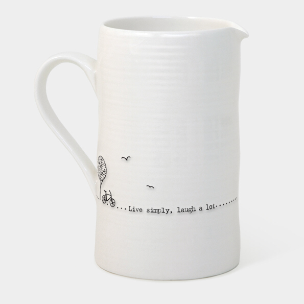 Large boxed jug - 'live simply laugh alot'