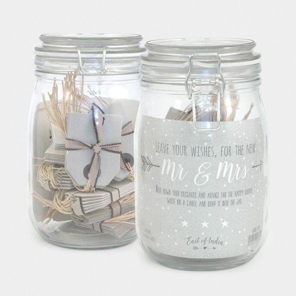 Wedding wishes jar
