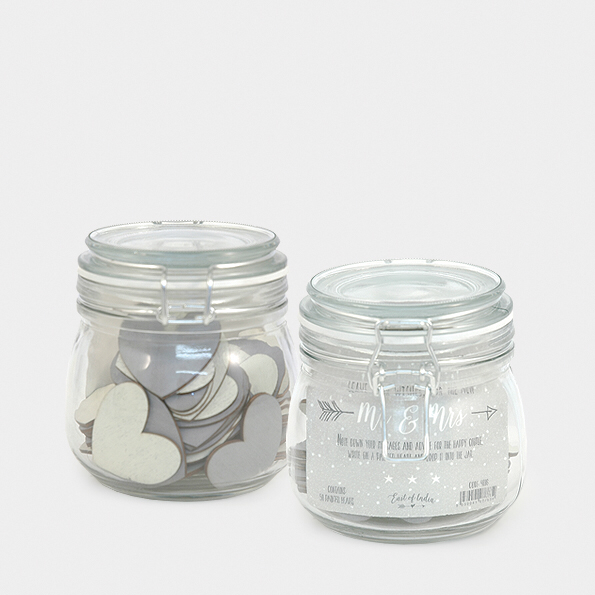 Wedding wishes jar - painted hearts