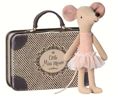 Ballerina big sister in suitcase
