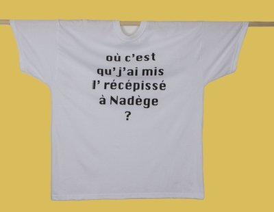 """T-SHIRT HOMME - XL - """"Nadège"""""""