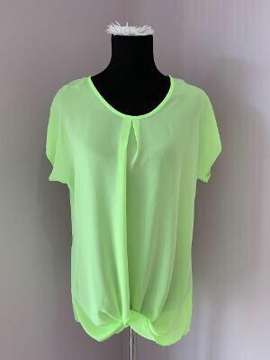 Neon Green Sheer Top