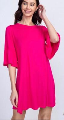Pucker Sleeve Dress