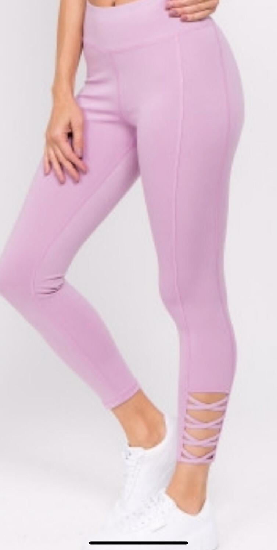High Rise Lavender Leggings
