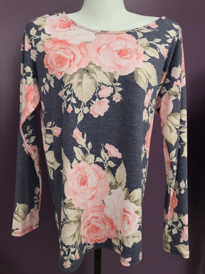 Open Floral Knot Backless Top