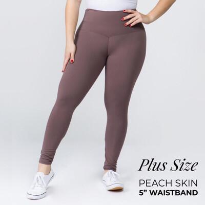 Peach Skin Leggings Plus