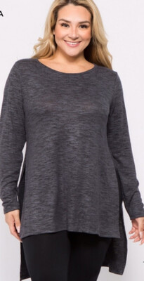 Plus Long Sleeve With Side Slits
