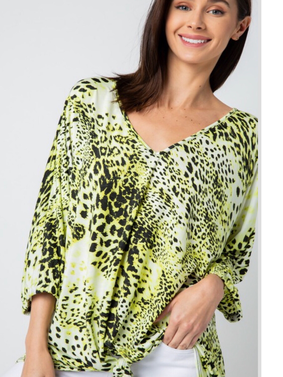 Green And Black Leopard Shirt