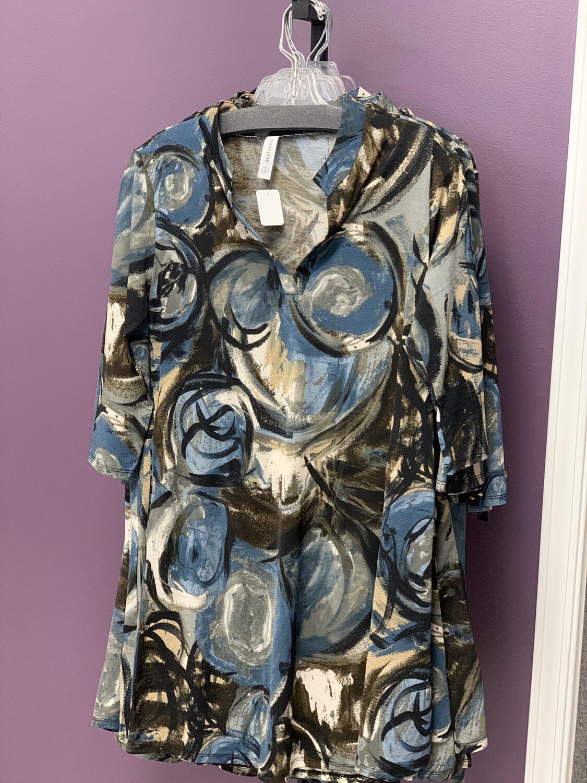 Blue Swirl Dress