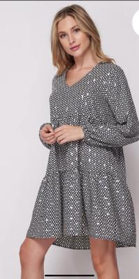 Blue Shimmer Dress