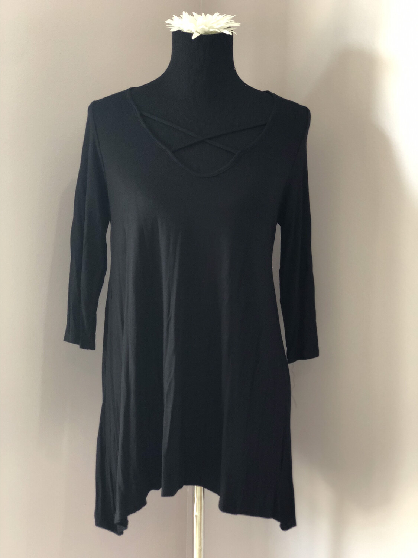 Mint or Black Criss Cross tunic